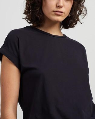 REISS Tereza Cotton Crew Tee - T-Shirts & Singlets (Navy)