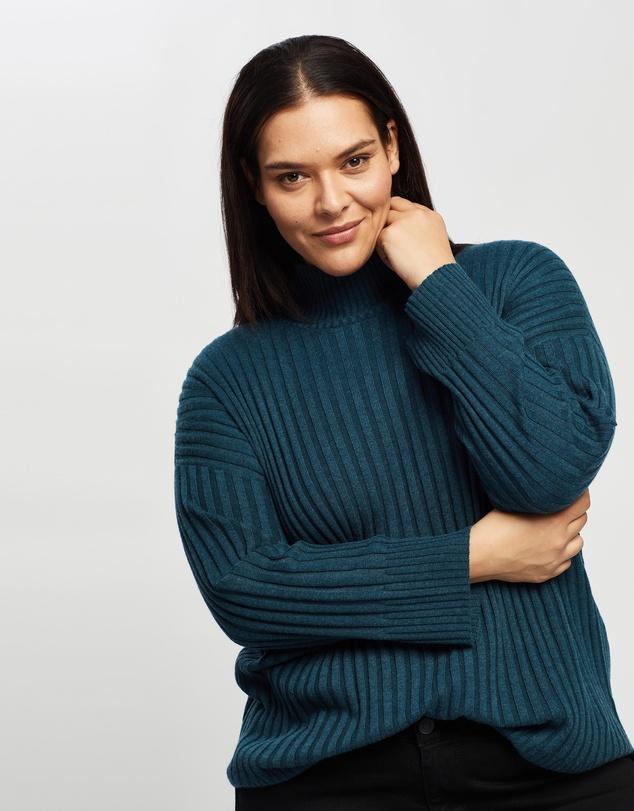 Women Joanna Wool Blend Rib Knit