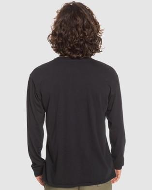 Quiksilver Mens Coastal Wash Long Sleeve T Shirt - Long Sleeve T-Shirts (Black)