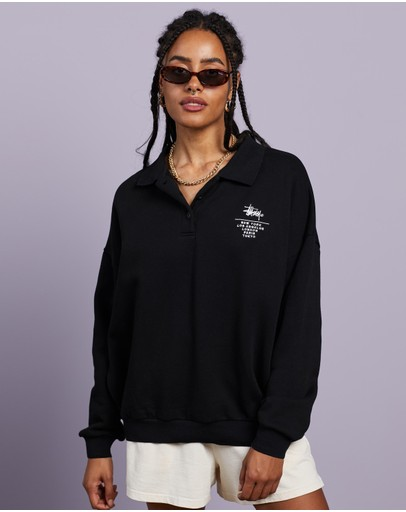 Stussy - Graffiti Over Sized Fleece Polo
