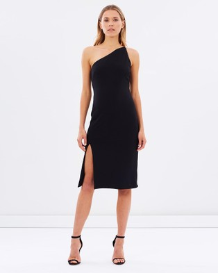 Naked Official – One Shoulder Dress with Side Slit