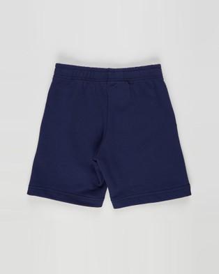ASICS B French Terry Short   Kid's - Shorts (Peacoat/Shocking Orange)