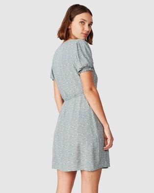 Cotton On Woven Amy Wrap Mini Dress - Dresses (Jenny Leaf Chinois Green)