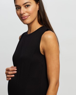 Mammojo Jessica Cross Over Dress - Dresses (Black)