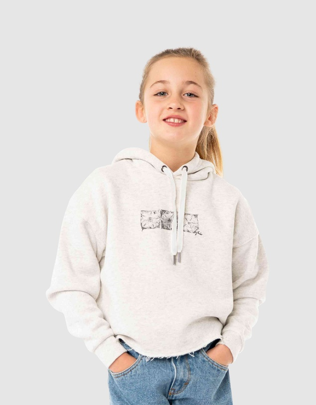 Rusty - Out Of Mind Crop Hooded Fleece Girls