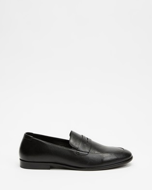 Double Oak Mills Anthony Leather Loafers - Dress Shoes (Black)