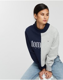 Tommy Jeans - Split Logo Crew Sweater