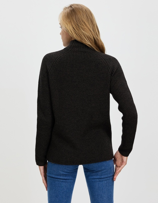 Women Hillock Funnel Neck Sweater