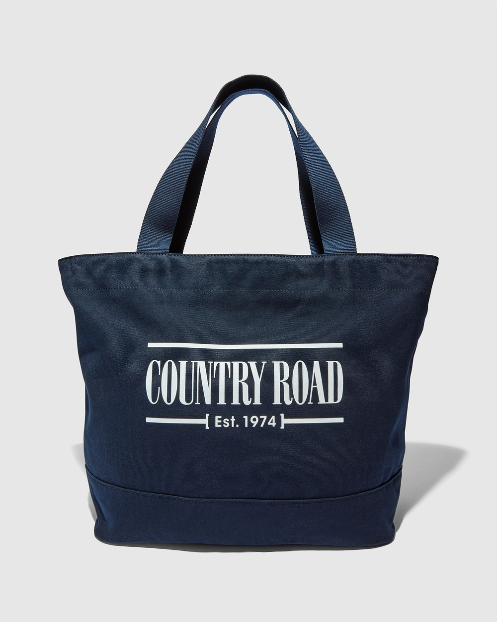 Country Road Printed Heritage Shopper Bags navy