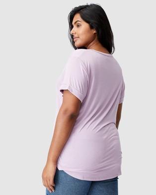 Cotton On Curve Karly Short Sleeve Tee - T-Shirts & Singlets (Soft Mauve)