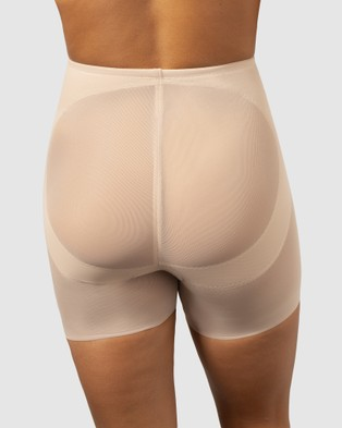 Miraclesuit Shapewear Sheer Shaping X Firm Derriere Lift Boyshorts - Underwear & Socks (Nude)