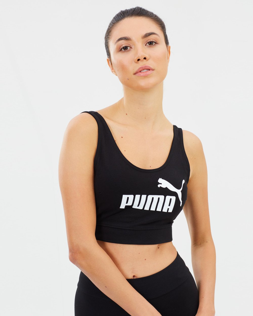 855dc084 Essential Logo Crop Top by Puma Online | THE ICONIC | Australia