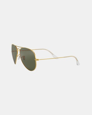 RaBan - Aviator Classic Polarised RB3025 - Sunglasses (Solid Colour Green)
