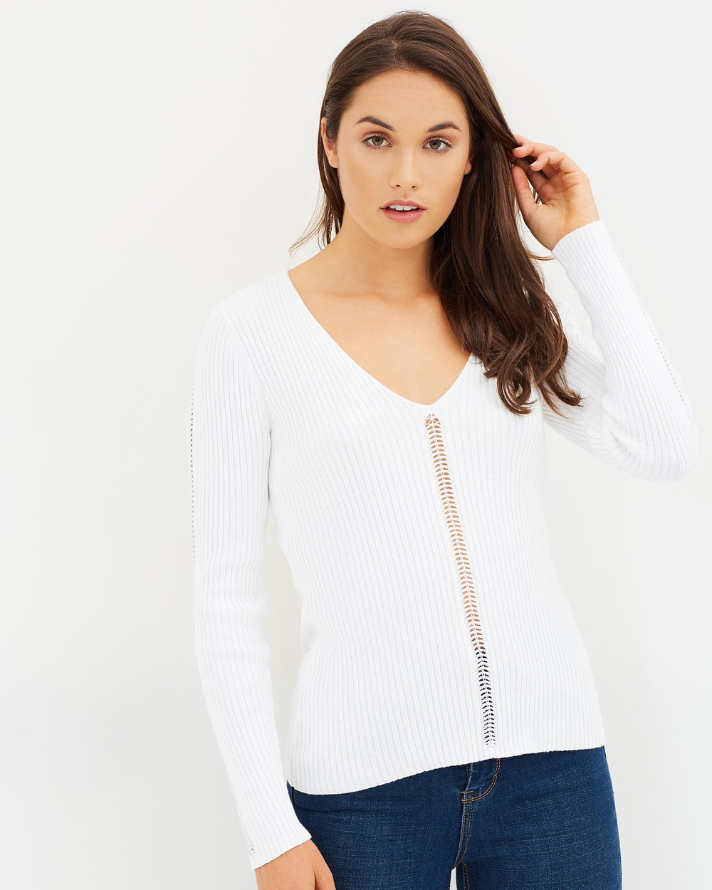 French Connection Lois Mozart Top Tops Summer White Lois Mozart Top