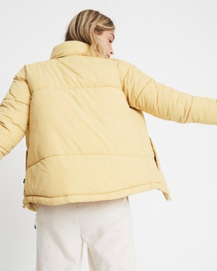 Cotton On Body Active The Recycled Mother Puffer Jacket Coats & Jackets Honey Mustard