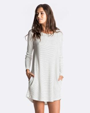 Roxy – Womens Lets Sing Dress – Swimwear MARSHMALLOW COAST ST