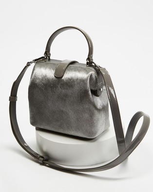 Kate Spade Remedy Haircalf Small Top Handle Bag - Handbags (Silver)