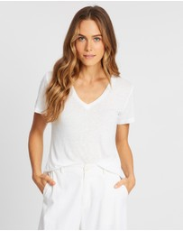 AERE - Linen Relaxed Tee