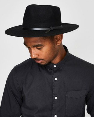 Arvust Howard Wool Fedora - Accessories (BLACK)