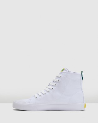 Volley Deuce High - High Top Sneakers (White/Green/Gold)