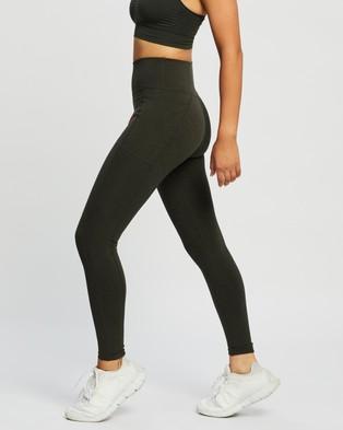 Sweaty Betty Super Sculpt Yoga Leggings - Full Tights (Dark Forest Green)