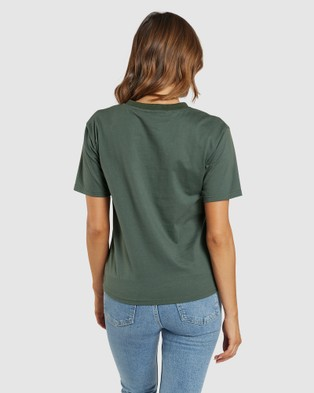 Apero Label - Club D'Amour Embroidered Tee - Short Sleeve T-Shirts (Green) Club D'Amour Embroidered Tee