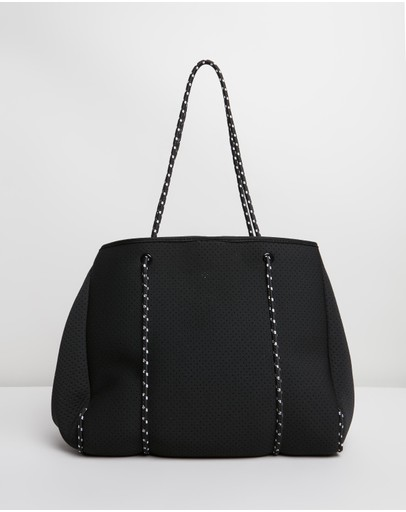 Choice of Colours Black I Love Rabbits Cotton Shopping Bag Cream,