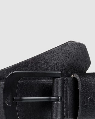 Quiksilver Mens The Everydaily Leather Belt - Belts (Black)