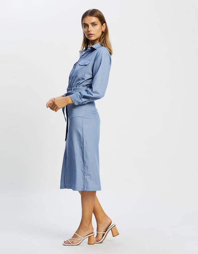 Women Janette Button Front Work Dress