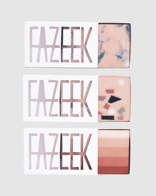 Fazeek Dusty Pink Soap Dish and Gradient Terrazzo Soap Pack - Beauty (Multi)