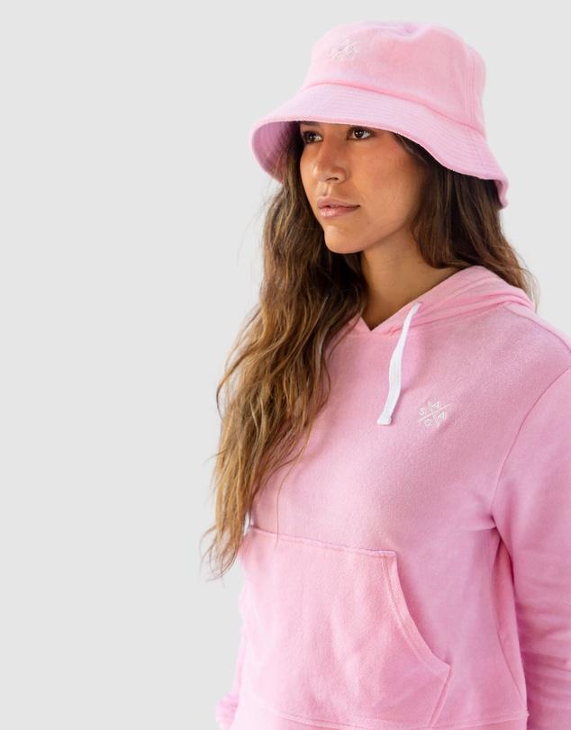 Women Andy Cohen Pink Terry Bucket Hat
