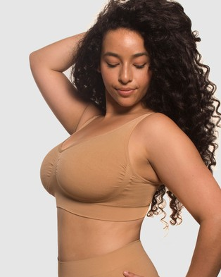 B Free Intimate Apparel Minimiser Bra - Crop Tops (Tan)
