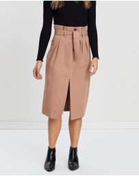 Atmos&Here - High-Waisted Paperbag Skirt