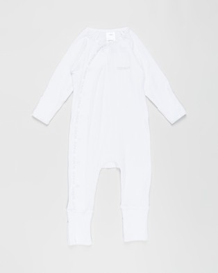 Bonds Baby - The Essentials Pack Babies Longsleeve Rompers (White)