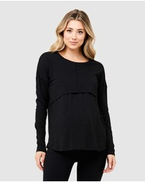 Ripe Maternity - Richie Long Sleeve Nursing Tee