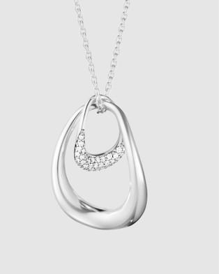 Georg Jensen Offspring Pendant with Diamonds - Jewellery (Silver)