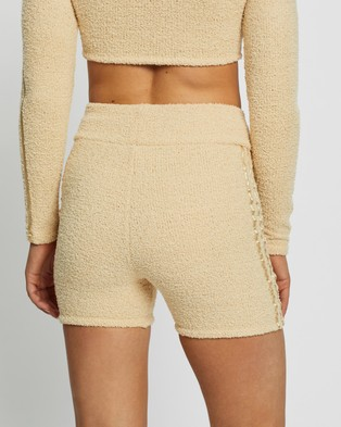 adidas Originals Knit Shorts High-Waisted Hazy Beige