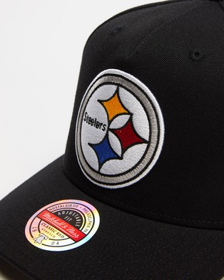 Mitchell & Ness Pittsburgh Steelers Wide Receiver Pinch Panel Cap - Headwear (Black)