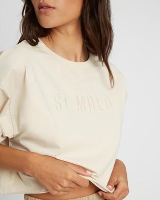 ST MRLO Miami Cropped Tee - T-Shirts & Singlets (Cream)