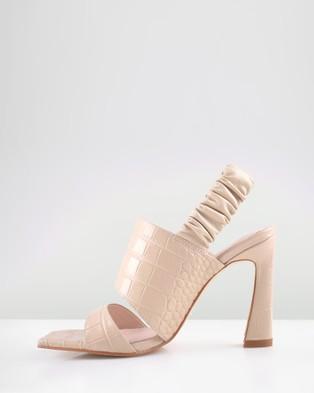 Sol Sana Fawn Heels - Sandals (Beige Croc)
