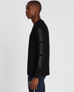 Doyoueven Blueprint Long Sleeve Tee - Long Sleeve T-Shirts (Black)