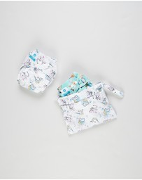 itti bitti - Bare Essentials One Size Fits Most Reusable Cloth Nappy & Wetbag 2-Pack