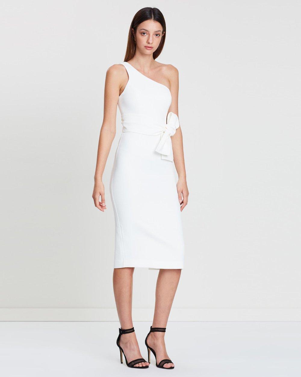 ff037976769 One Shoulder Midi Dress with Belt by Shona Joy Online