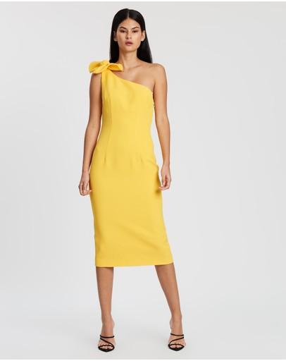 By Johnny. Pollen Tie Midi Dress Yellow