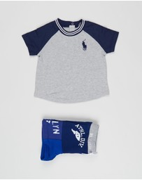 Polo Ralph Lauren - Twill Terry Raglan Tee & Shorts Set