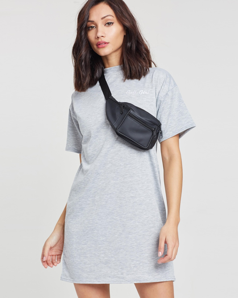 Missguided Oversized T Shirt Dress Dresses Grey Oversized T-Shirt Dress