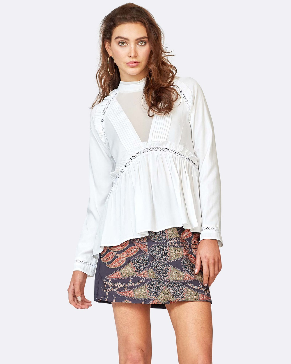 Three of Something Allessio Blouse Tops White Allessio Blouse