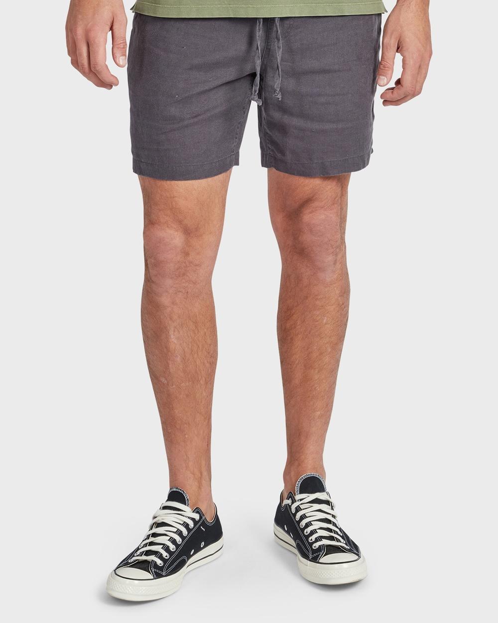 Academy Brand Riviera Linen Short Shorts Grey