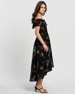 Montique Alex Dress - Dresses (Black and Gold)