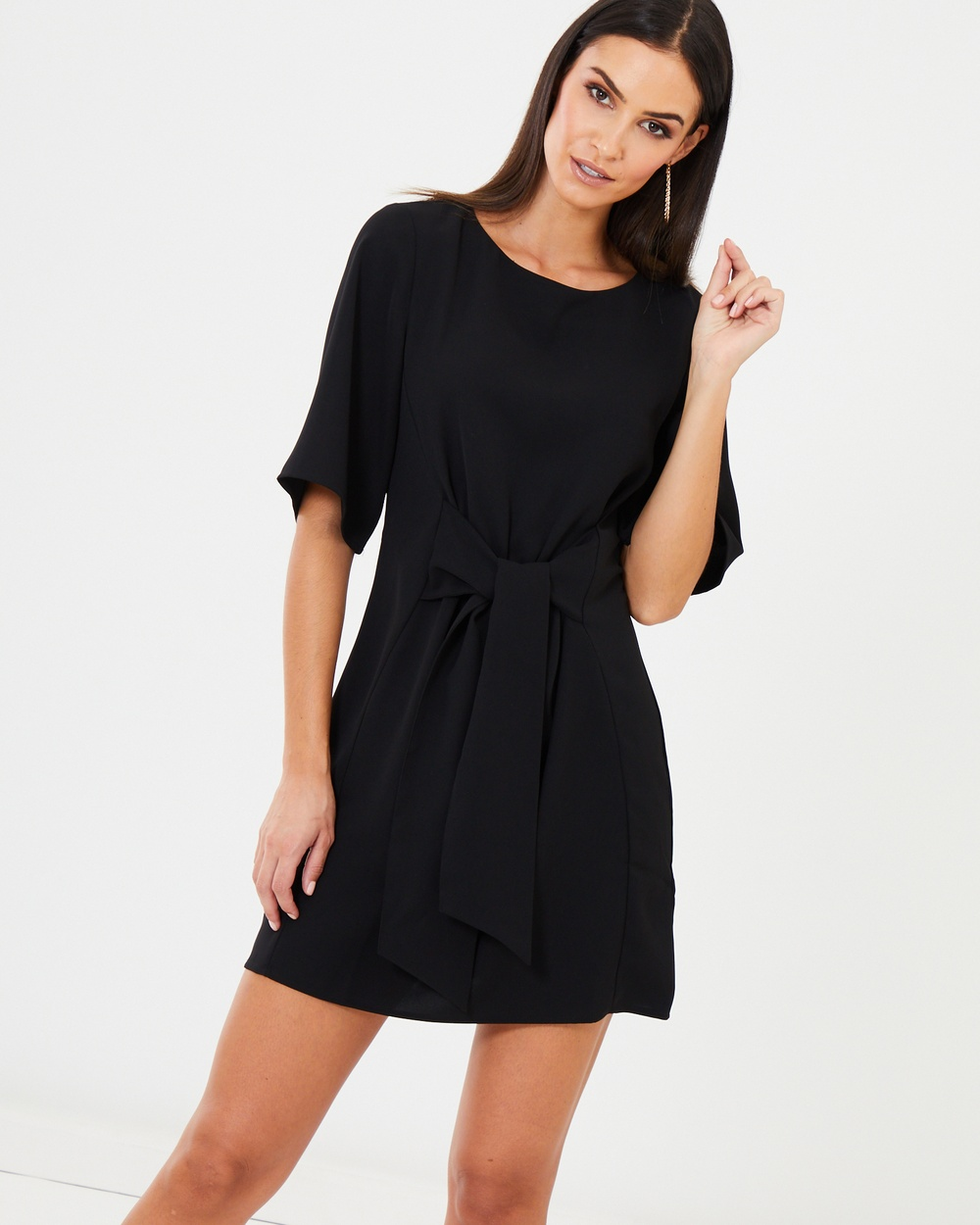Photo of Tussah Black Arielle Tie Front Dress - beautiful dress from Tussah online